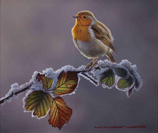 Wayne Westwood, Original oil painting on panel, First Frost No frame image. Click to enlarge
