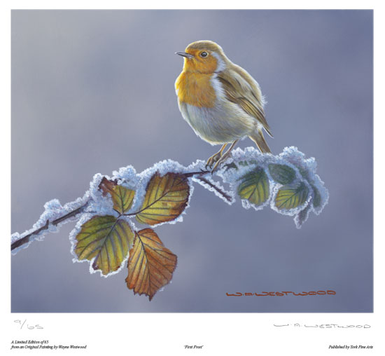 Wayne Westwood, Signed limited edition print, First Frost No frame image. Click to enlarge