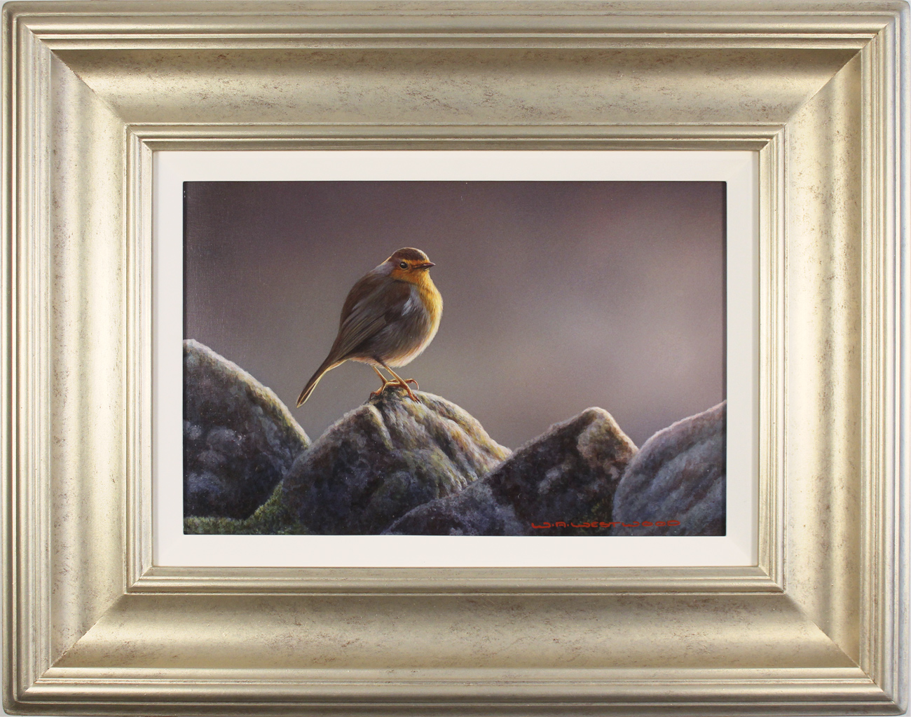 Wayne Westwood, Original oil painting on panel, The Country Robin Click to enlarge