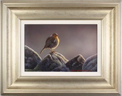 Wayne Westwood, Original oil painting on panel, The Country Robin