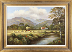 Wendy Reeves, Original oil painting on canvas, Highland Harvest